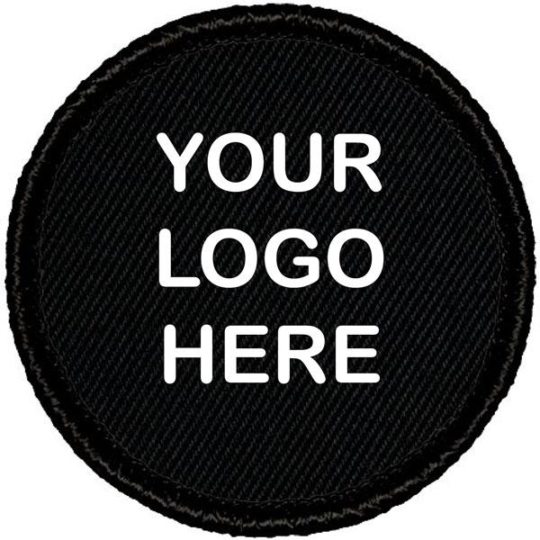 customized round black patch