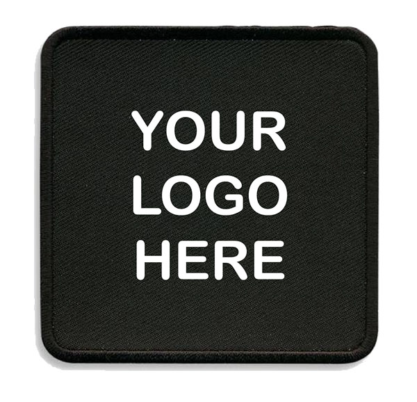 customized black square patch