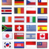 country flag embroidery patches