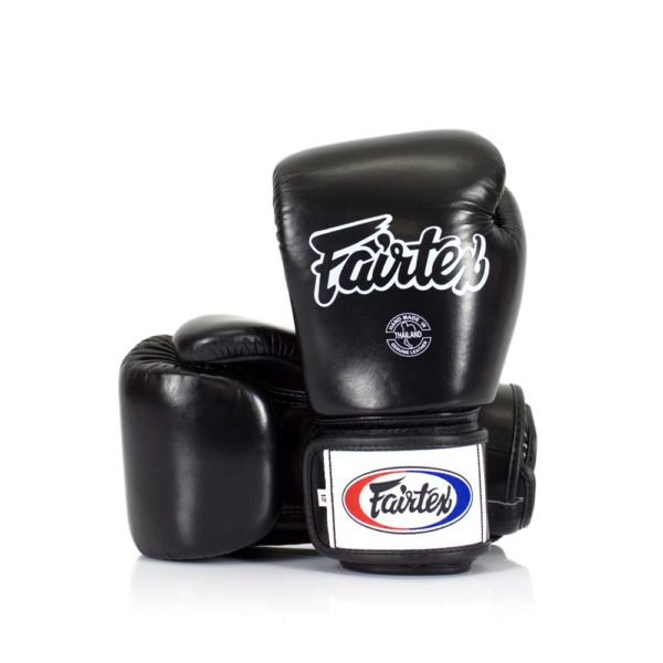 boxing gloves fairtex in black