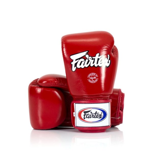 boxing gloves fairtex in red