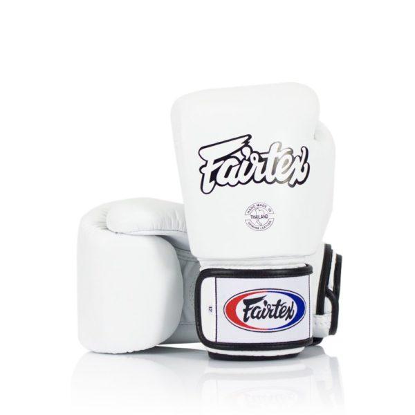 boxing gloves fairtex in white