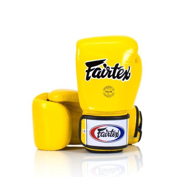 boxing gloves fairtex in yellow
